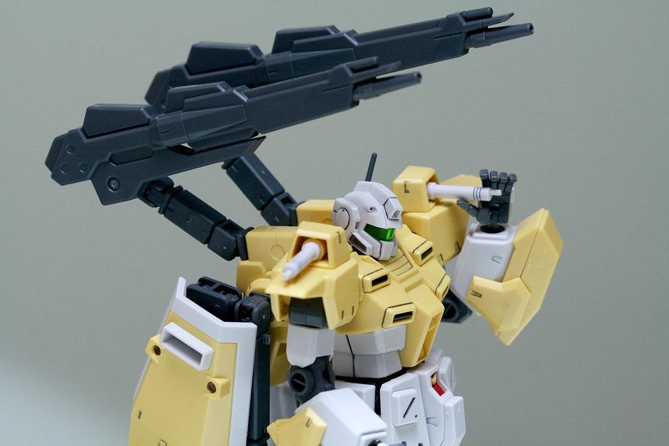 Gundam, Robot, Toy, Plastic, Japan, Gunpla, Yellow