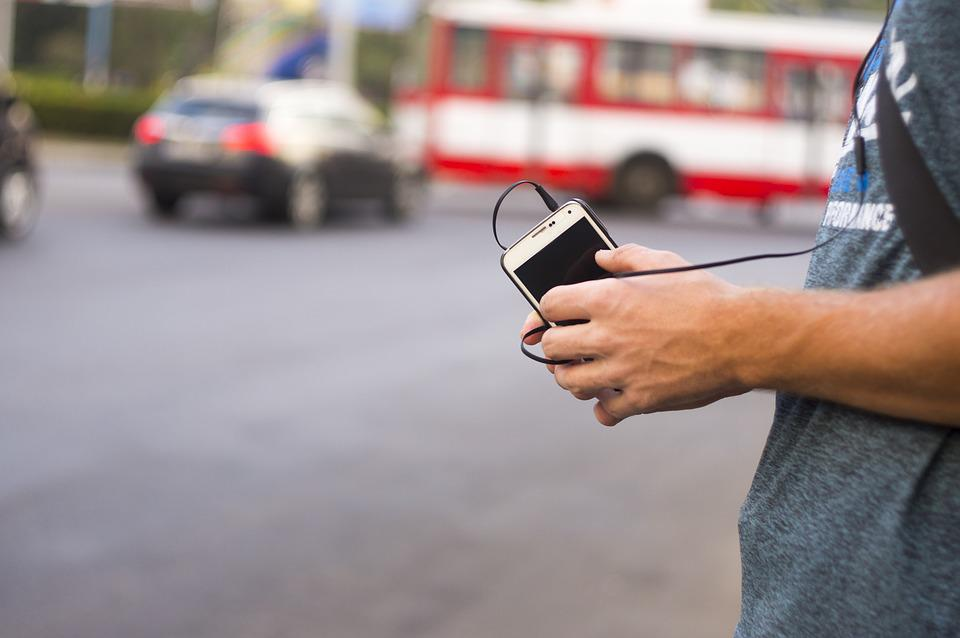 Phone, Mobile, City, Listen To The Music, Guy