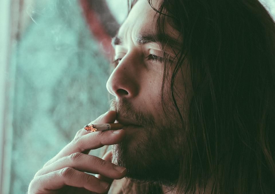 Man, Guy, Beard, People, Cigarette, Smoke