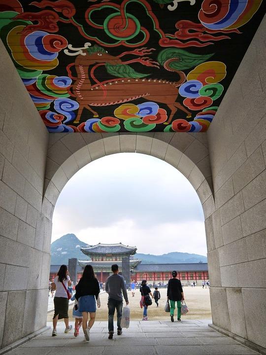 Gyeongbok Palace, Gwanghwamun, Storefront