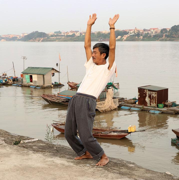 Gymnastics, Morning Greeting, Red River, Hanoi