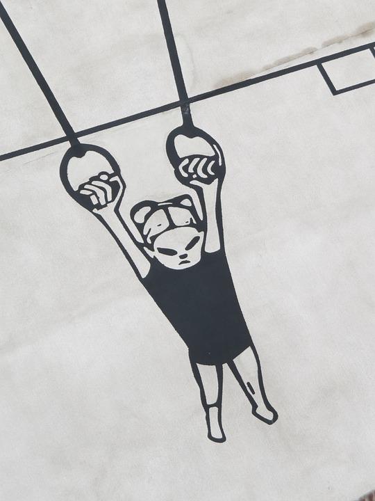 Free photo Gymnastics Wall Illustration Sport Murals Rings Max Pixel