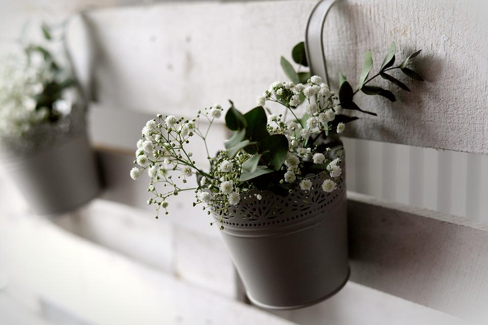 Decoration, Wedding Decoration, Gypsophila, Flowerpot