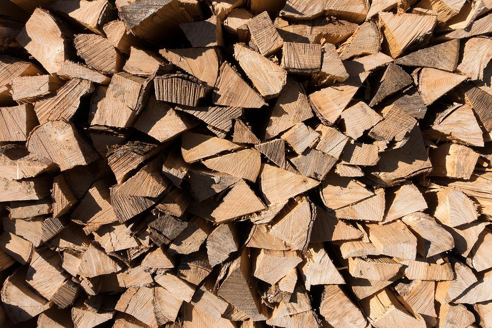 Wood, Hacked, Stacked Up, Firewood, Holzstapel