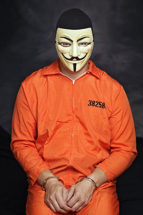 Mask, An Anonymous, Hacker, Crime, Face, Man