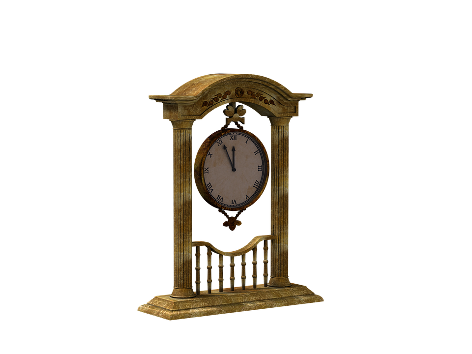 Clock, Time Of, Hängeuhr, Digital Art, Isolated