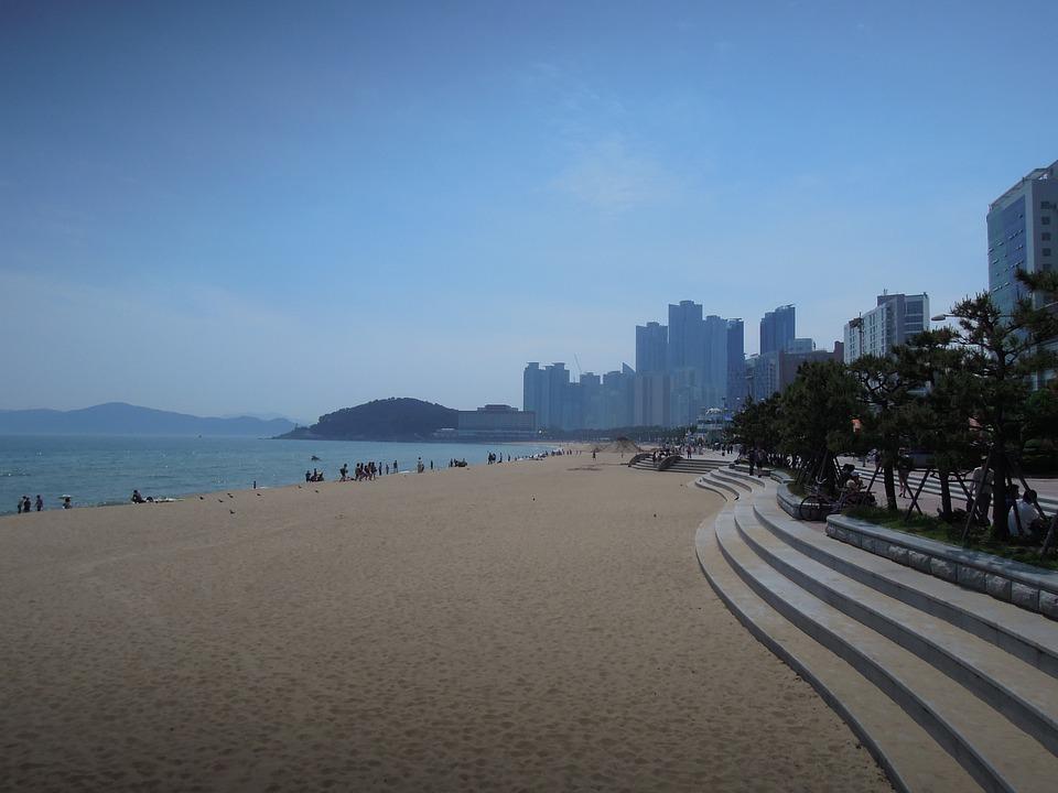 Sea, Haeundae Beach, Sandy