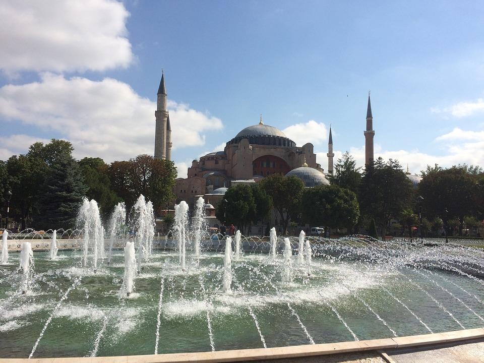 Hagia Sophia Mosque, Day, Fountain