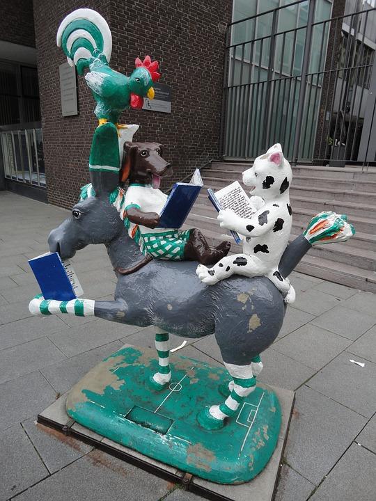 Bremen, Town Musicians, Donkey, Dog, Cat, Hahn