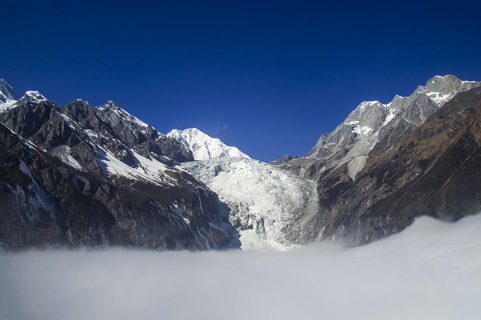 Sichuan, Gonggar, Snow Mountain, Hailuogou, Scenery