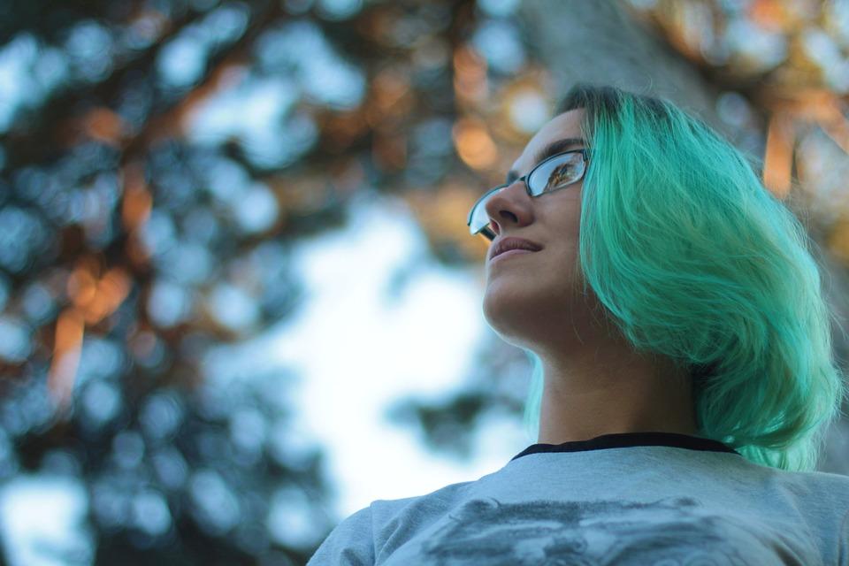 Girl, Model, Hair, Sky, Nature, Portrait