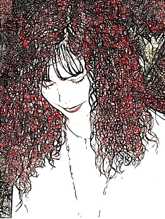 Women, Face, Illustrative, Portrait, Hair, Person