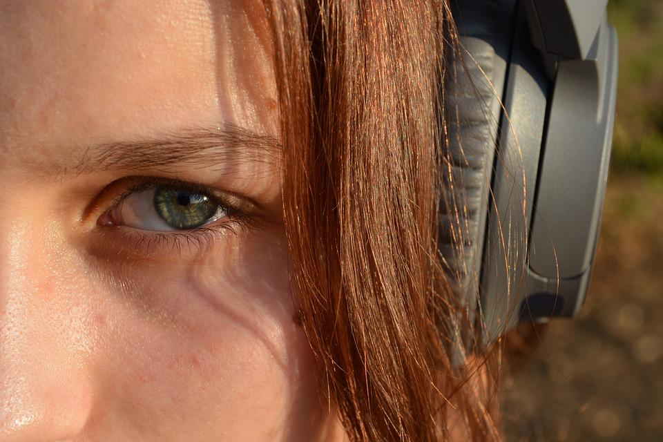 Listen, Music, Headphones, Hair, Girl, Woman, Female