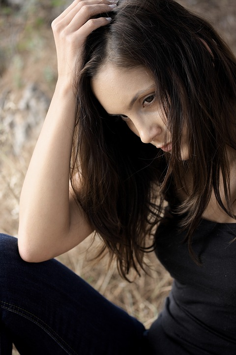 Woman, Model, Considerate, Hair, Out, Young Girl