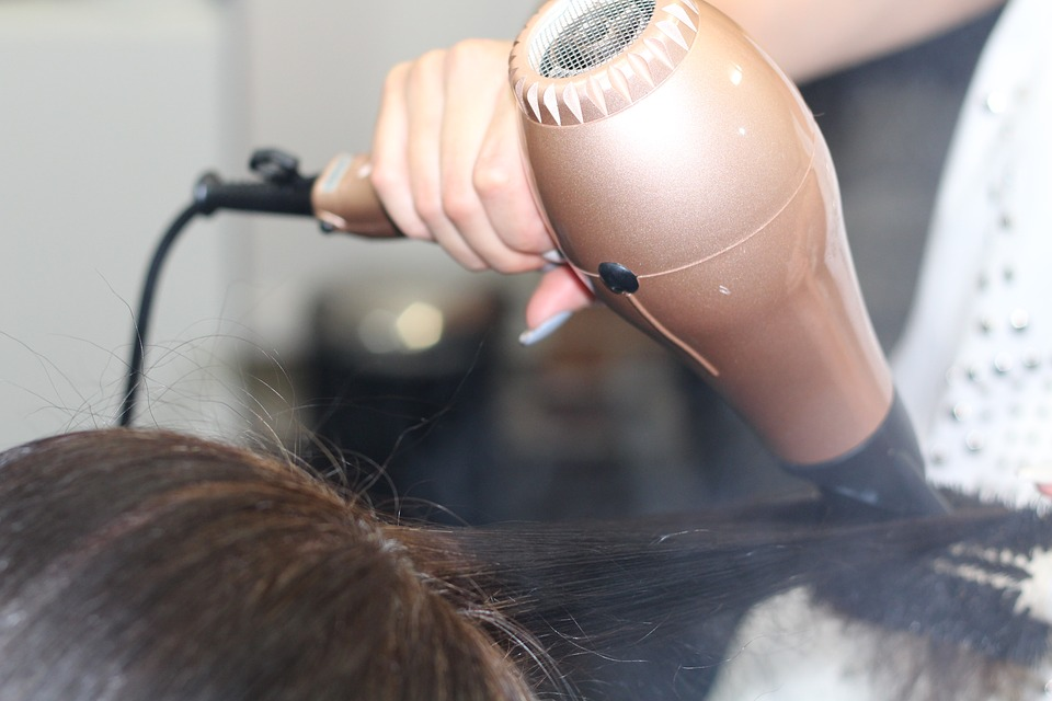 Hairdressing, Blow-dry, Stylist, Hairdryer, Client