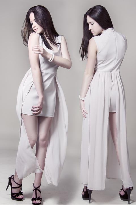 Girl In White Dress, Hairstyle, Hair, Beauty, Girl