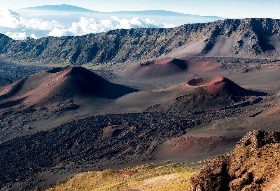 Crater, Haleakala Crater, Hawaii, Landscape, Nature