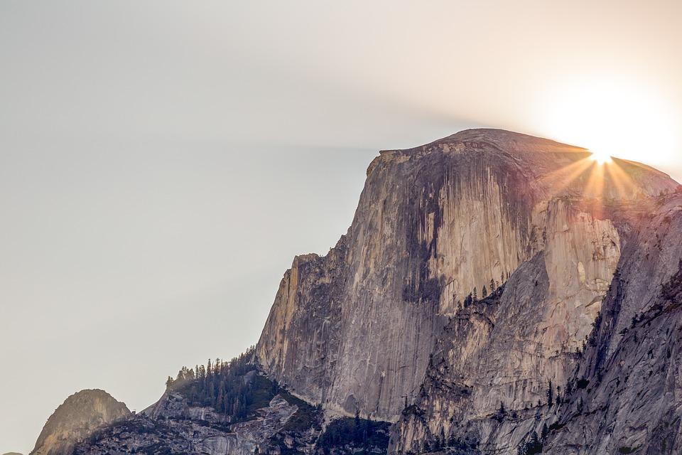 Cliff, Daylight, Evening, Geology, Half Dome, Landscape