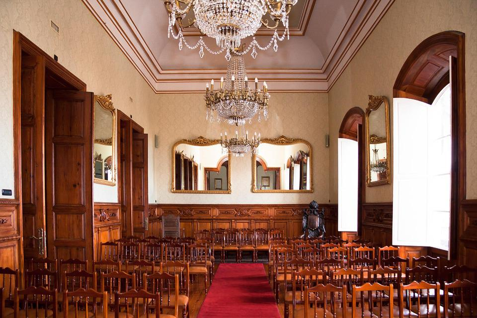 Hall, Crystal Chandelier, Meeting, Session, Dance Hall