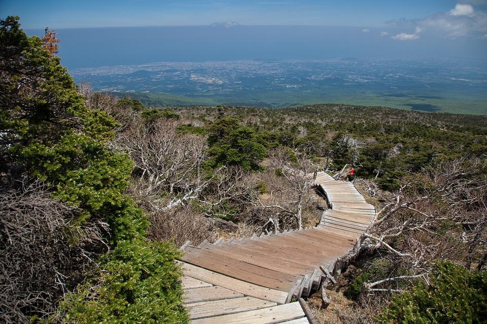 Halla, Jeju Island, Cloud, Sea, Jeju, Scenery, Mountain