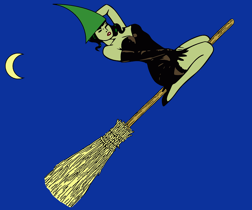 Witch, Halloween, Broom, Flying, Flight