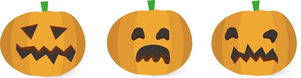 Pumpkins, Jack-o'-lanterns, Halloween, Icons