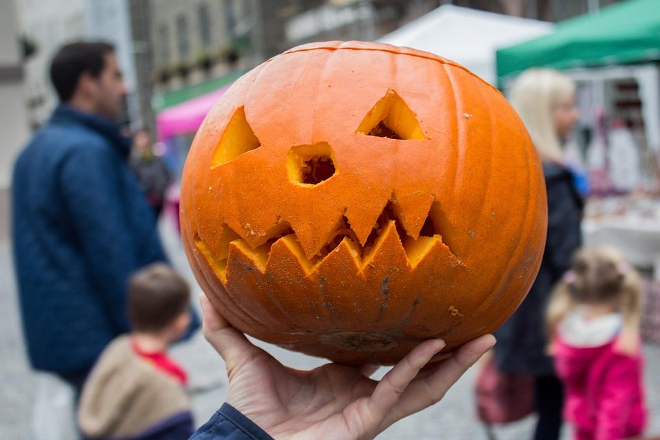 Halloween, Pumpkin, Carving, Orange, Seasonal, Lantern