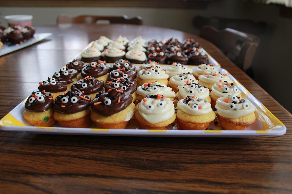 Mini Cupcakes, Halloween, Dessert, Vanilla, Chocolate