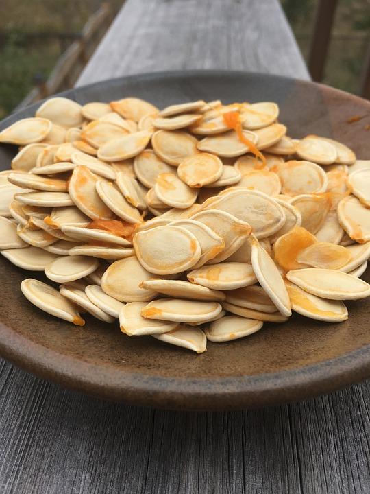 Pumpkin, Seeds, Halloween