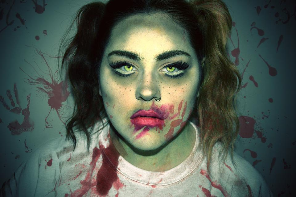 Free photo Halloween Woman Girl Zombie Horror Makeup Female - Max ...