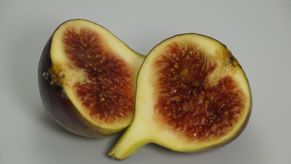 Fig, Fruit, Cut, Half, Halves, Sweet, Food, Healthy