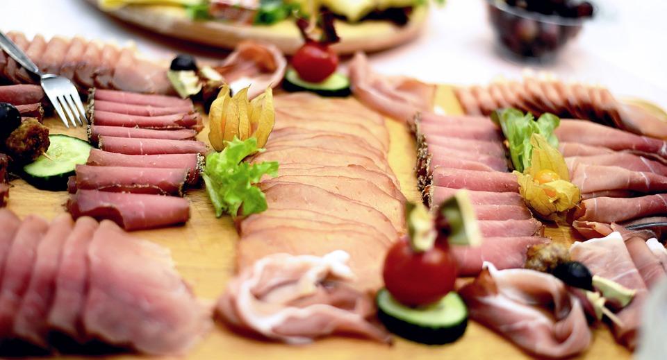 Ham, Meat, Sausage, Wurstplatte, Ham Plate, Food