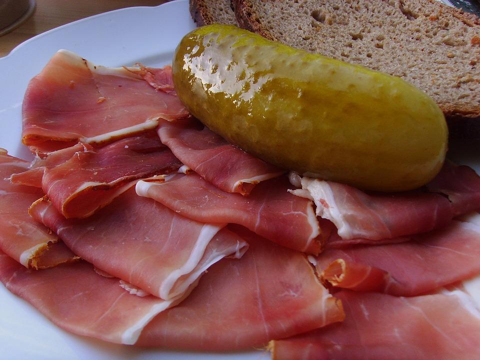 Ham, Raw Ham, Snack, Vespers, Eat