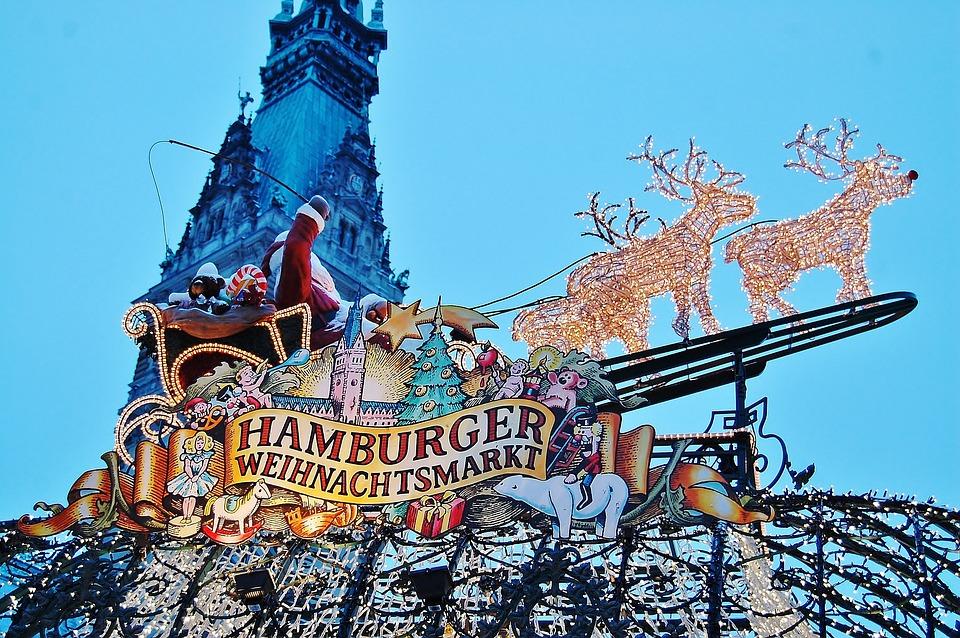 Hamburg, Christmas Market, Santa Claus, Christmas