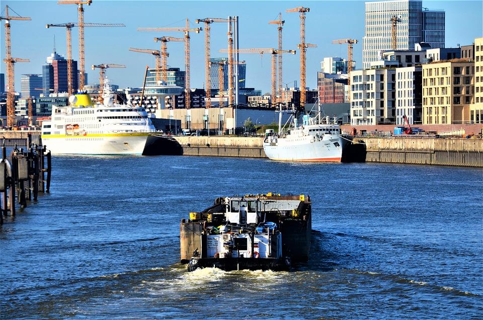 Elbe, Port, Hafencity, Hamburg, Germany, City