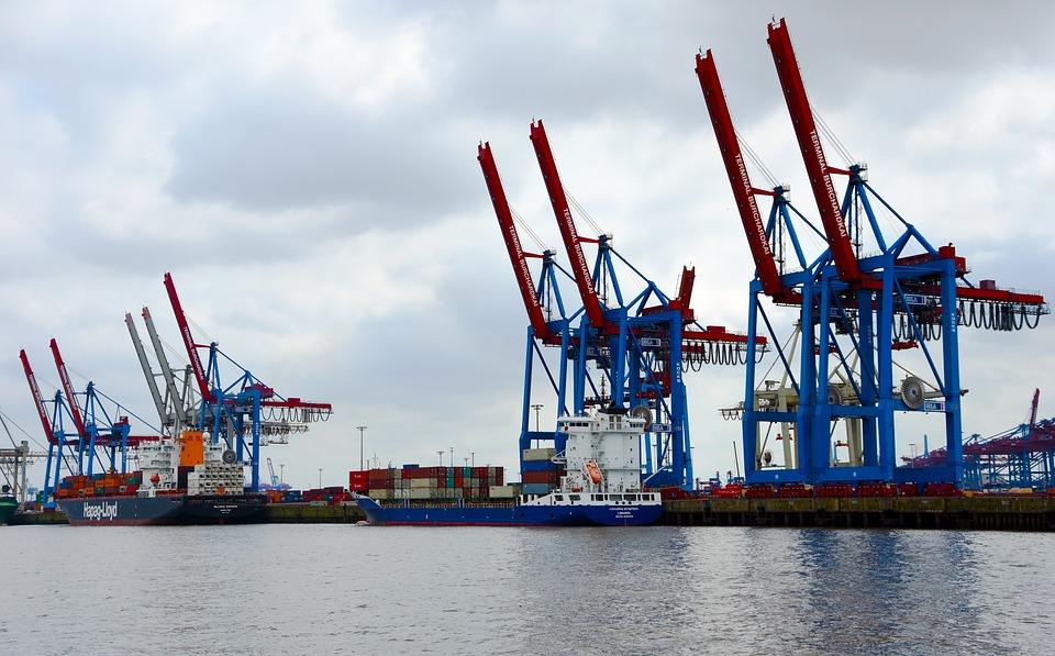 Crane, Cranes, Port, Hamburg, Site, Harbour Cranes