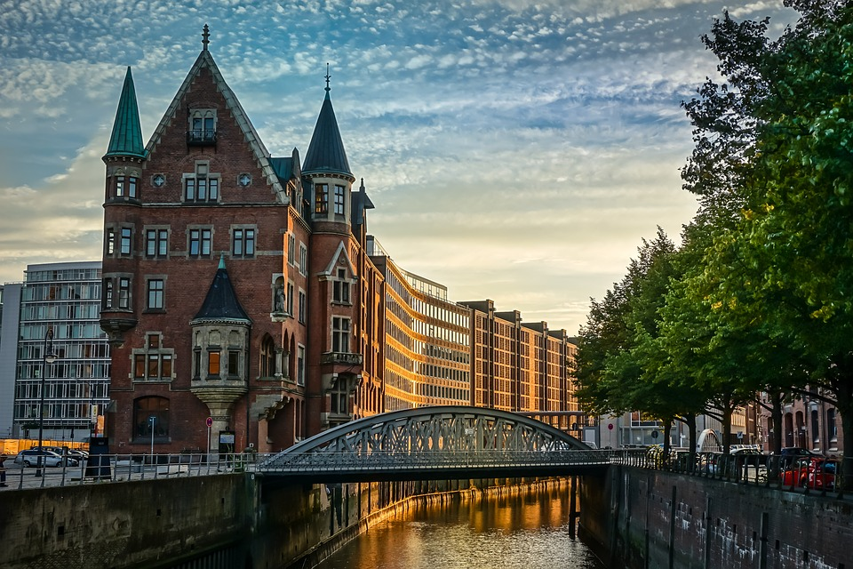 Hamburg, Speicherstadt, Water, Homes, Germany