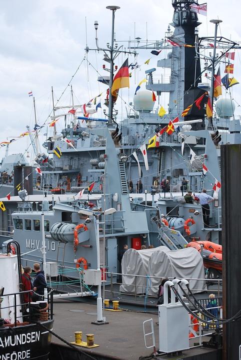 Hafengeburtstag, Hamburg, Ships And Flags