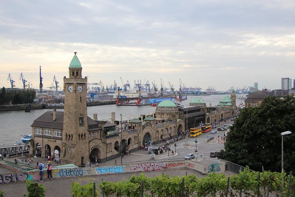 Landungsbrücken, Hamburg, Elbe, Hamburg Landungsbrücken