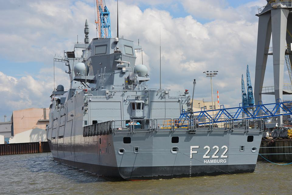 Hamburg, Port, Navy, Frigate, Shipyard, Review, Class