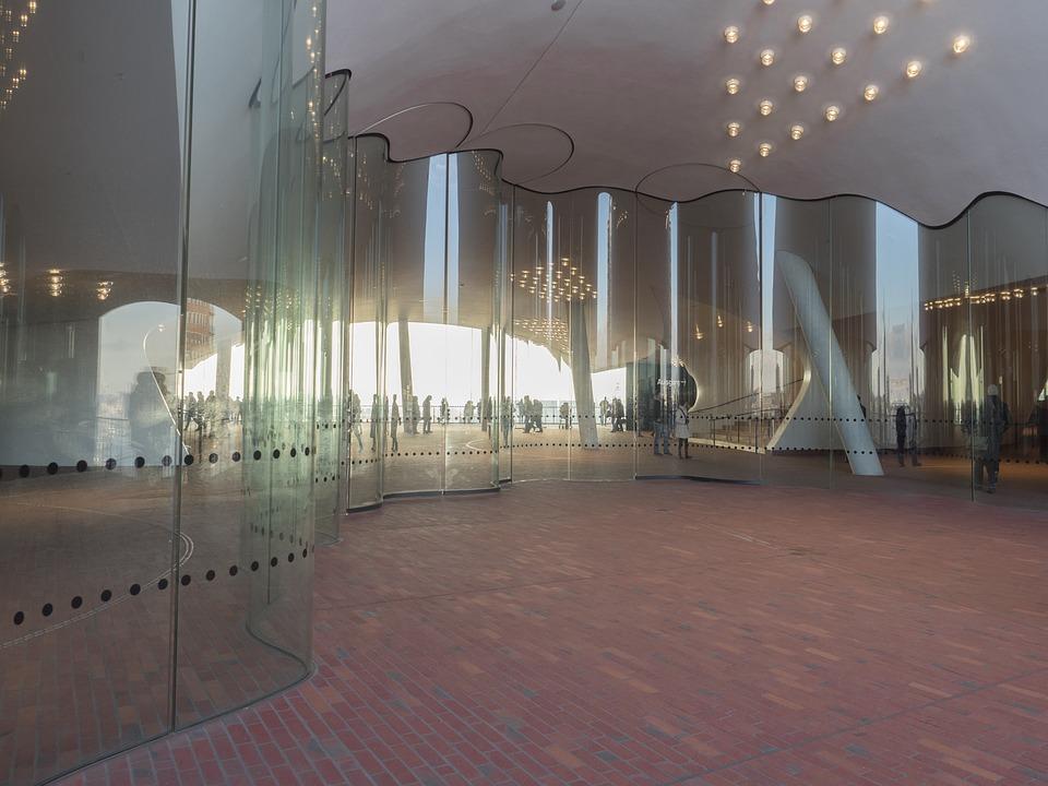 Hamburg, Germany, Elbe Philharmonic Hall, Plaza