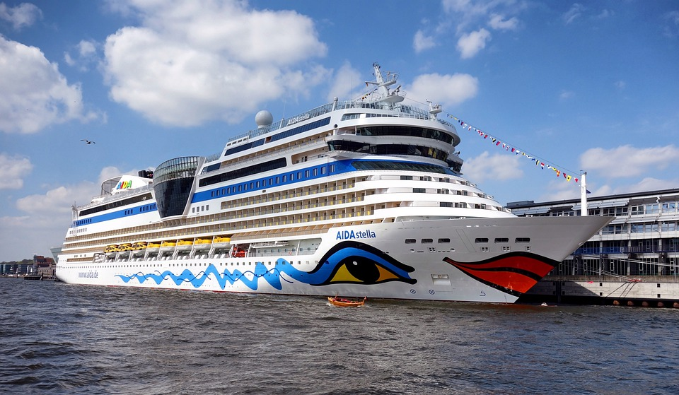 Hamburg, Germany, Port, Harbor, Cruise Ship, Liner