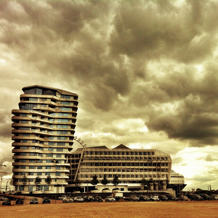Free photo Hamburg Port Marco Polo Tower Germany Harbour City ...