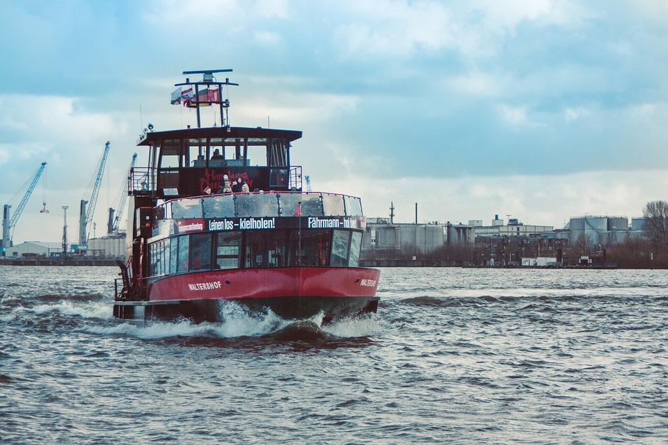 Hamburg, Hanseatic City, Ship, Elbe, Transport System