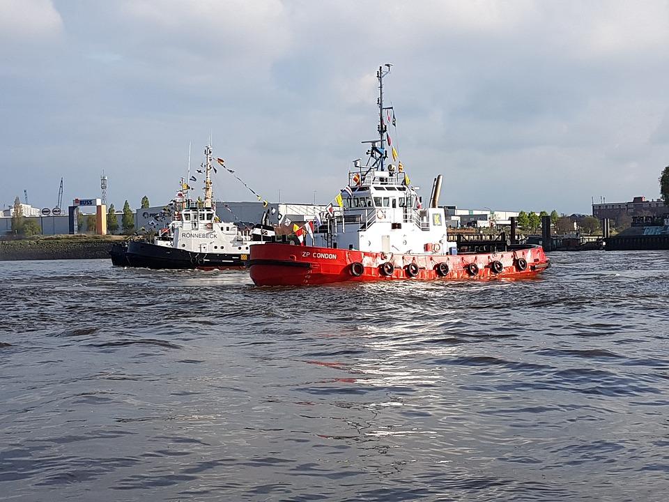 Hamburg, Harbour Festival, Tugboat Ballet, Elbe, Boat