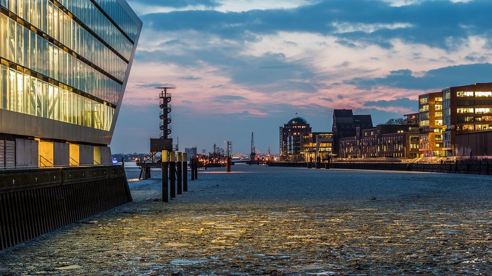 City, Waters, Panorama, Architecture, Travel, Hamburg