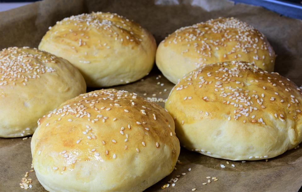 Roll, Hamburger Buns, Brioche, Burger Buns, Flour