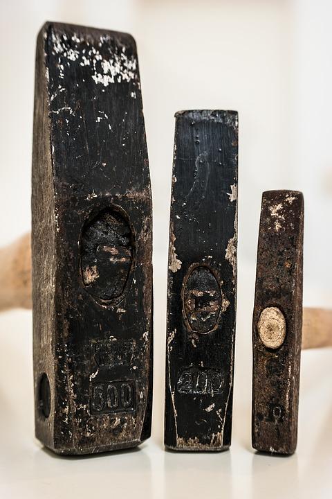 Hammer, Tool, Craft, Iron, Metal, Work, Old, Worn, Used