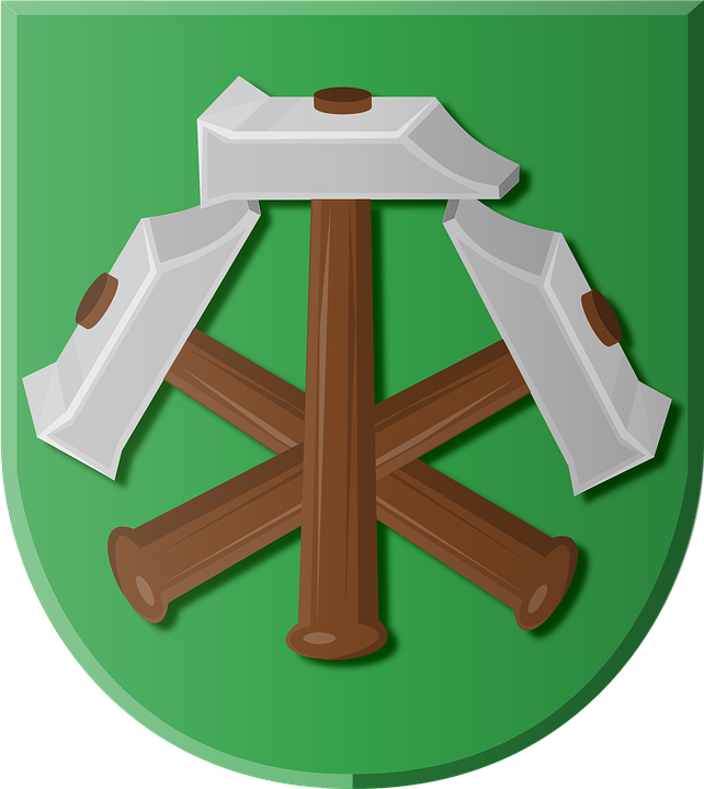 Coat Of Arms, Beets, Hammers, Heraldry, Symbol, Shield