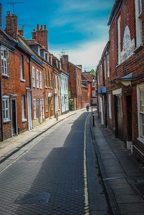 Street, Winchester, England, Uk, Hampshire, Road